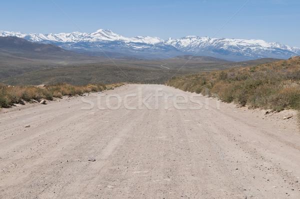 Camino de tierra Nevada montanas histórico parque California Foto stock © disorderly
