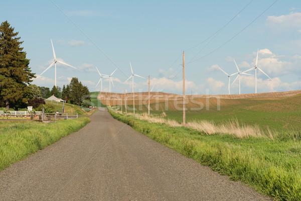 Stock photo: Gravel road