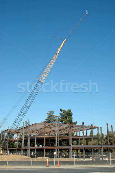 építkezés épület acél kerítés Stock fotó © disorderly