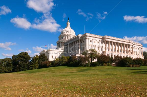 Stany Zjednoczone Capitol budynku Waszyngton jesienią spadek struktury Zdjęcia stock © disorderly