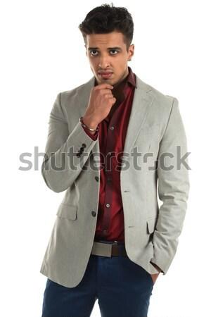 Hostile homme élégant jeunes indian beauté Photo stock © disorderly