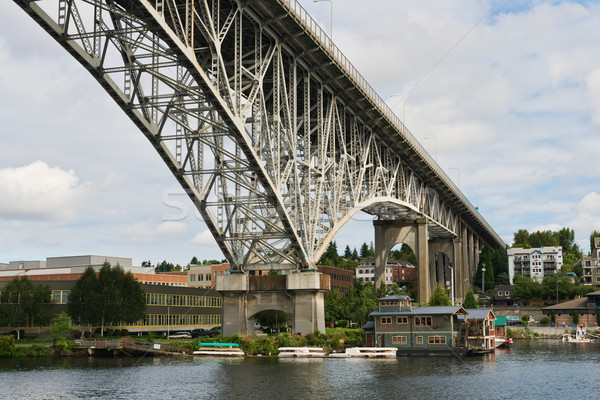 Lac Union pont Seattle Washington Photo stock © disorderly
