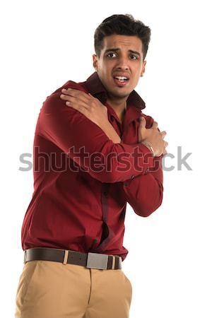 Hevesli adam yakışıklı genç Hint güzellik Stok fotoğraf © disorderly