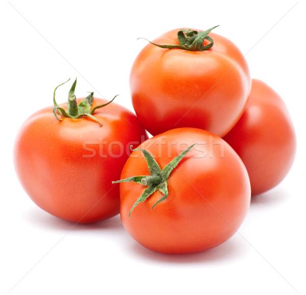 Tomaat sappig geïsoleerd voedsel groene Rood Stockfoto © djemphoto