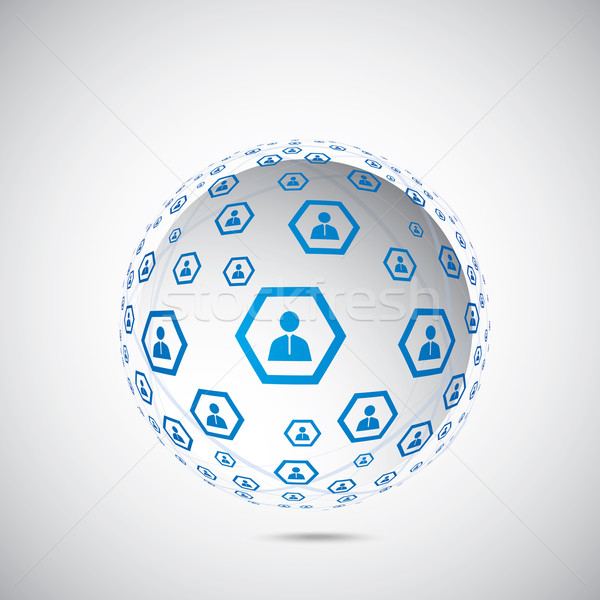 Stockfoto: Menselijke · wereldbol · verbinding · netwerk · ontwerp