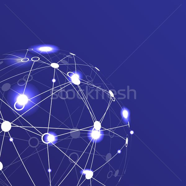 Mondial réseau modernes monde design Photo stock © djemphoto