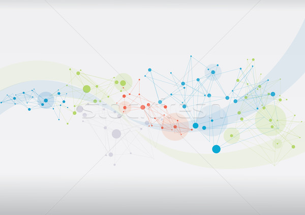 Abstract futuristische technologie stijl kaart achtergrond Stockfoto © djemphoto