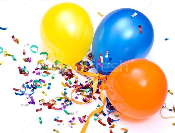 Confete voar balão ar caminho alegria Foto stock © djemphoto