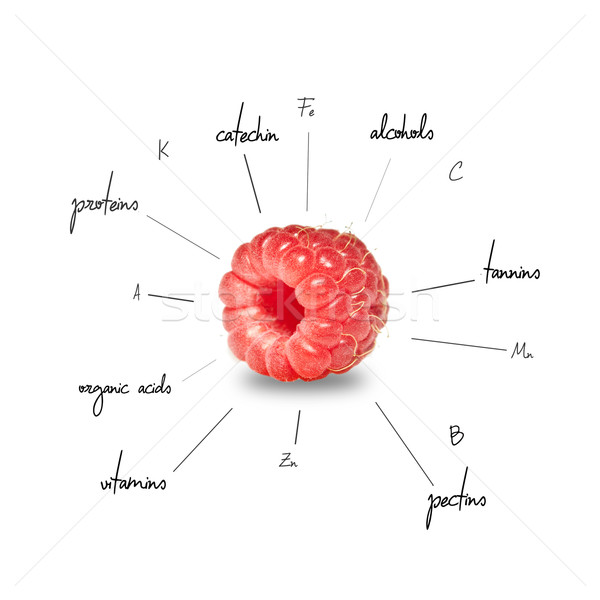 The chemical composition of raspberry Stock photo © djemphoto