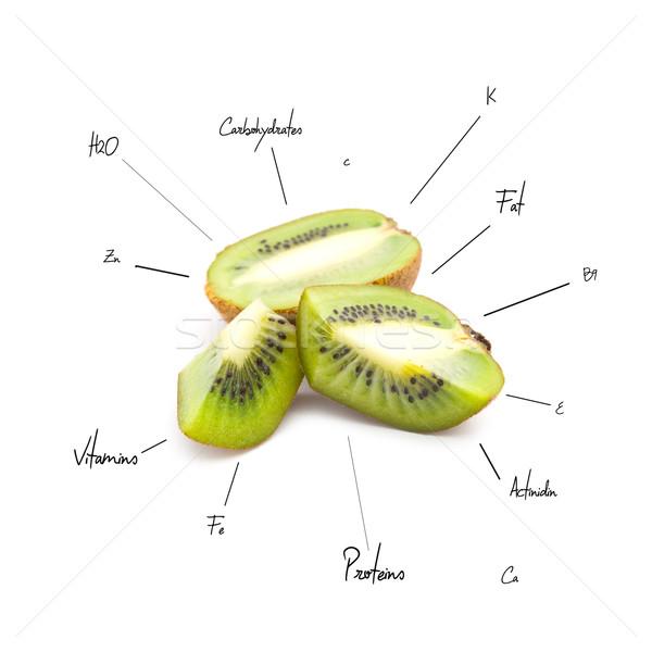 Chemische kiwi witte water vruchten achtergrond Stockfoto © djemphoto