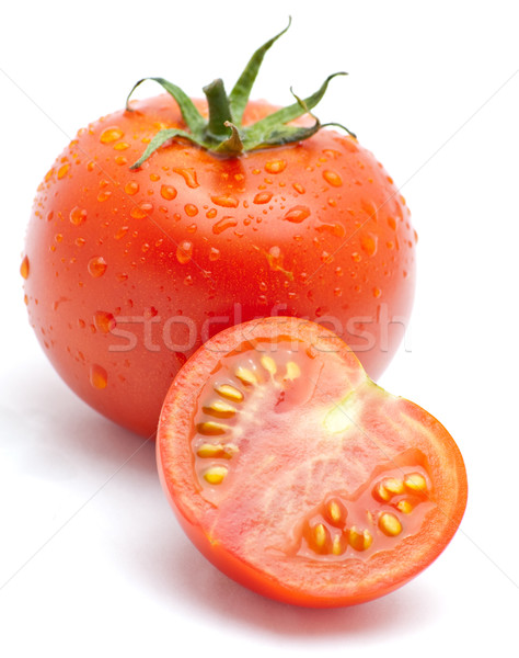 Tomaten vers voedsel groene Rood tomaat Stockfoto © djemphoto