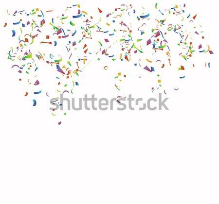 Gekleurd papier witte vector school gelukkig Stockfoto © djemphoto