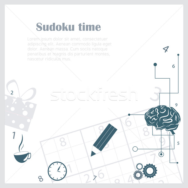 Sudoku background  Stock photo © djemphoto