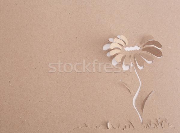 Origami virág boldog felirat ajándék ajándék Stock fotó © djemphoto