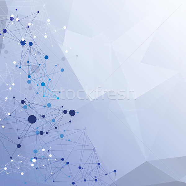 Blauw abstract cirkels lijnen computer Stockfoto © djemphoto