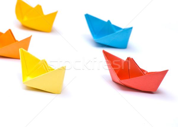 Paper ships Stock photo © djemphoto