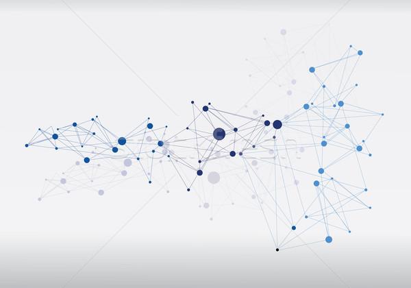 Molekularny struktury streszczenie futurystyczny projektu model Zdjęcia stock © djemphoto