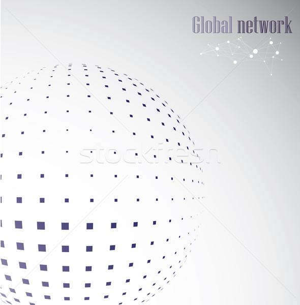 Meetkundig wereldbol groep ondersteuning moderne object Stockfoto © djemphoto