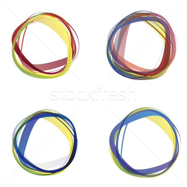 Absztrakt színes körök fehér háttér üzlet Stock fotó © djemphoto