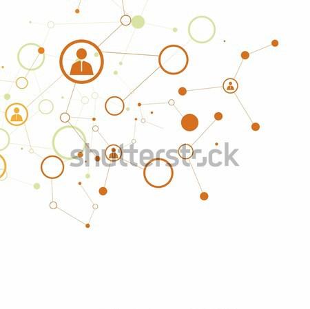Menselijke wereldbol verbinding netwerk ontwerp Stockfoto © djemphoto