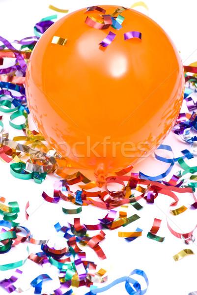 Confetti vliegen ballon lucht pad vreugde Stockfoto © djemphoto