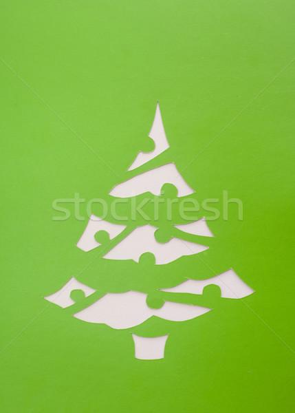 Origami fa üzlet papír textúra internet Stock fotó © djemphoto