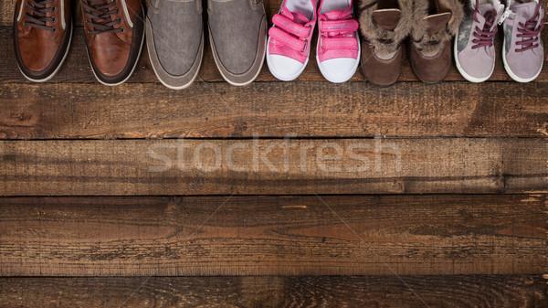 Various colourful footwear Stock photo © djemphoto