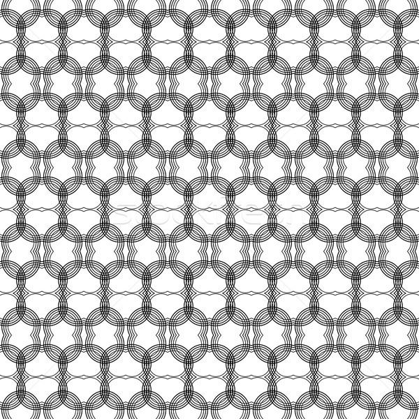 Naadloos meetkundig witte textuur weefsel patroon Stockfoto © djemphoto