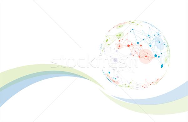 Globale netwerk moderne wereldbol ontwerp Stockfoto © djemphoto