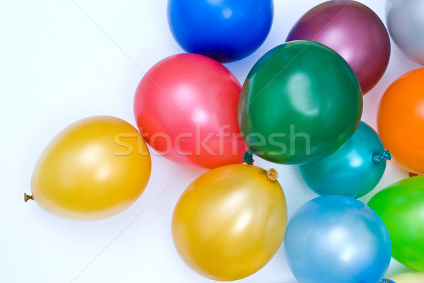 Ballonnen groep leuk Rood kleur witte Stockfoto © djemphoto