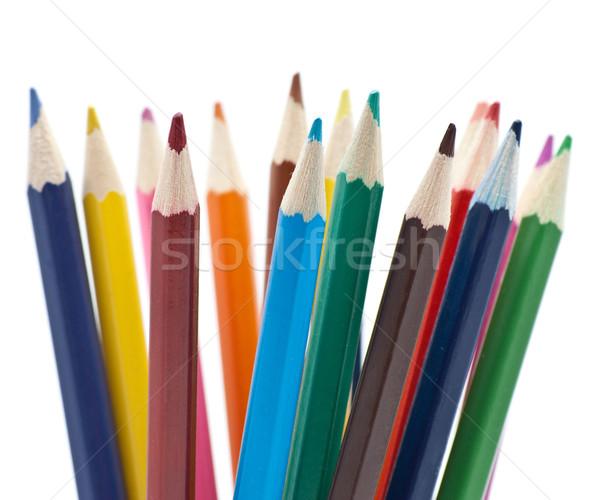 Ceruzák szín iskola ceruza háttér narancs Stock fotó © djemphoto