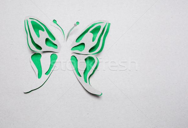 Vlinder origami afbeelding abstract groene voorjaar Stockfoto © djemphoto