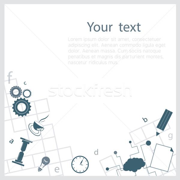 Crossword background Stock photo © djemphoto