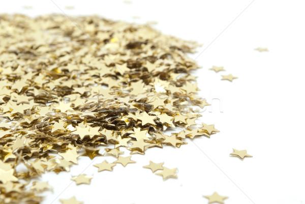 Confetti witte partij gelukkig verjaardag Stockfoto © djemphoto