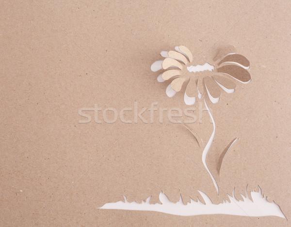 Origami bloem gelukkig teken geschenk aanwezig Stockfoto © djemphoto