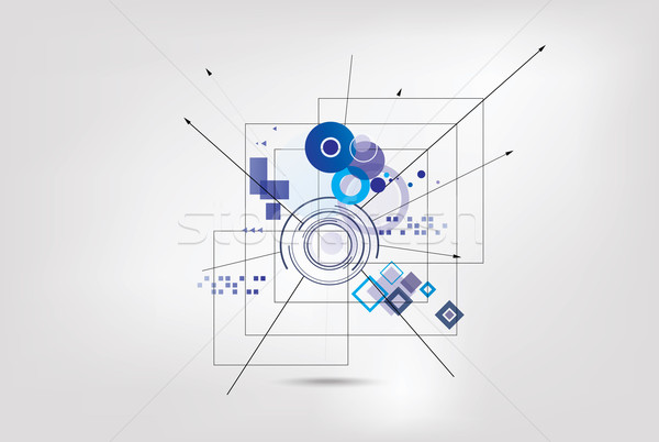 Abstract technologie achtergrond futuristische stijl kaart Stockfoto © djemphoto