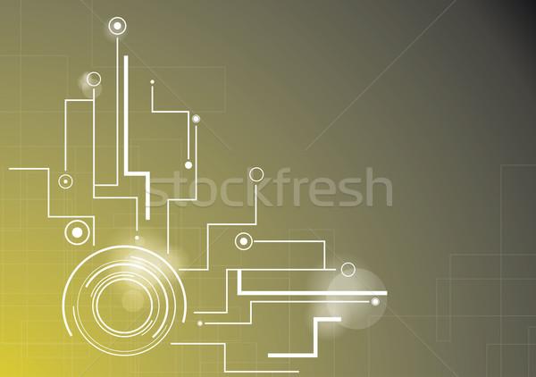 Absztrakt technológia háttér futurisztikus stílus kártya Stock fotó © djemphoto