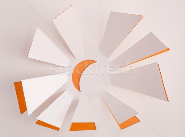 Nap origami fény nyár narancs csillag Stock fotó © djemphoto