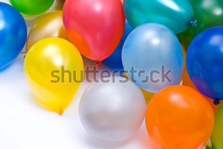 Stockfoto: Ballonnen · groep · leuk · Rood · kleur · witte