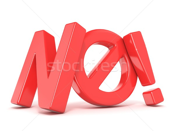 Word NO with prohibited symbol. 3D Stock photo © djmilic