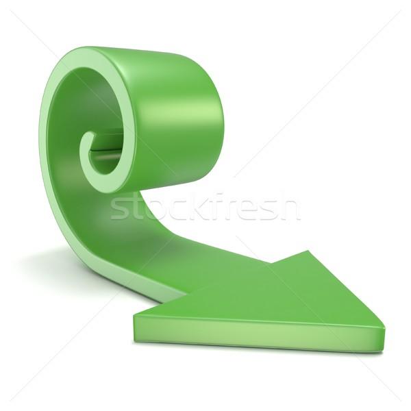 Yeşil spiral ok 3D 3d render örnek Stok fotoğraf © djmilic