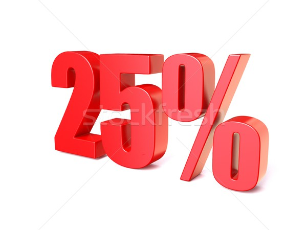 Red percentage sign 25. 3D Stock photo © djmilic