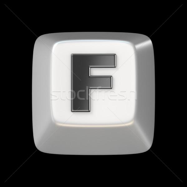 Számítógép billentyűzet kulcs betűtípus f betű 3D 3d render Stock fotó © djmilic