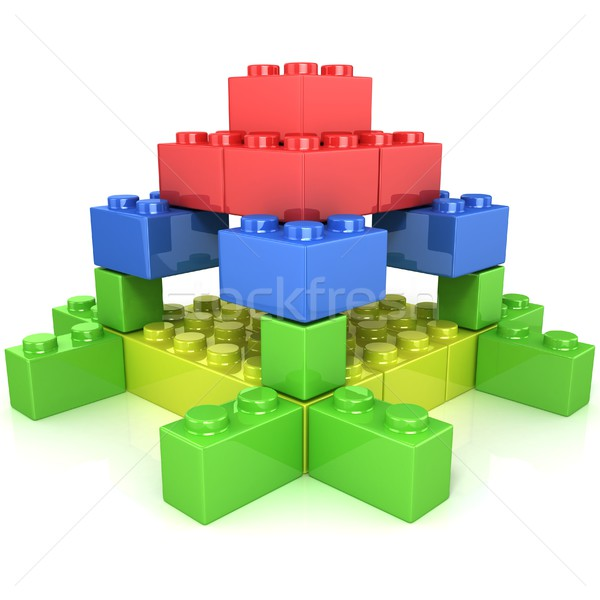 Toy for children, colorful castle construction Stock photo © djmilic