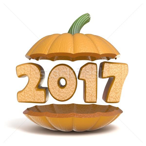 Halloween pumpkin 2017 3D Stock photo © djmilic