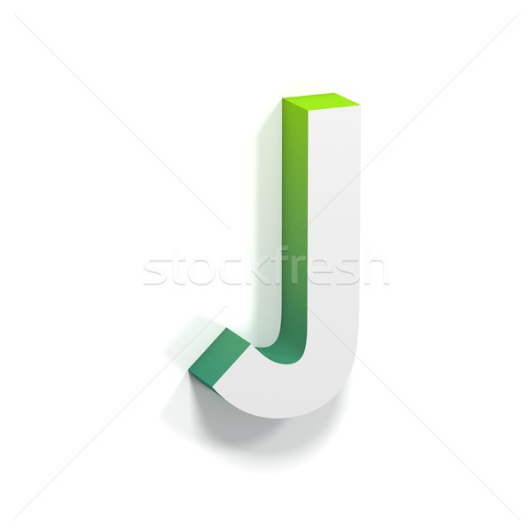 Green gradient and soft shadow letter J Stock photo © djmilic