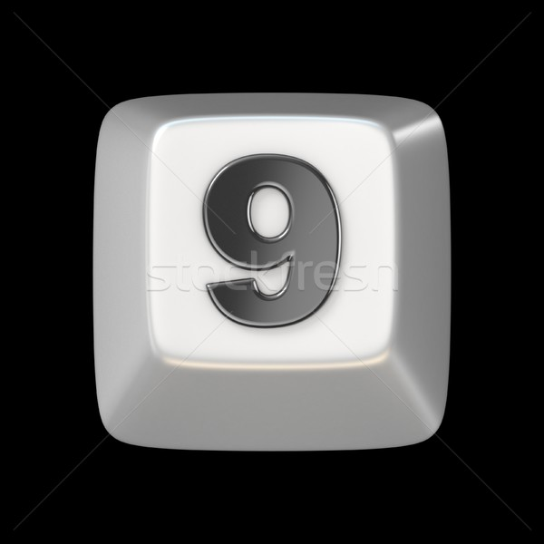 Chiave numero nove 3D rendering 3d Foto d'archivio © djmilic