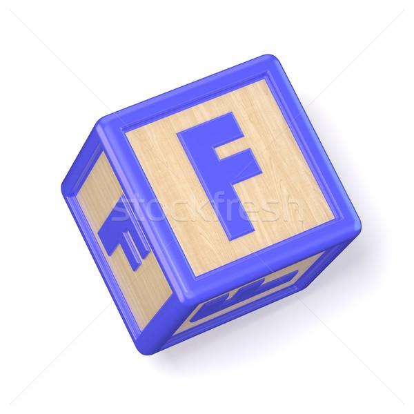 Foto stock: Letra · f · alfabeto · blocos · fonte · 3D