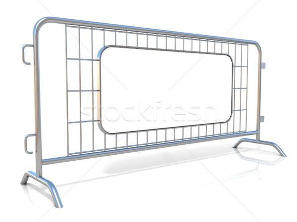 Aço isolado branco vista lateral assinar conselho Foto stock © djmilic