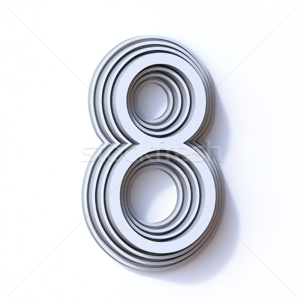 Three steps font number 8 EIGHT 3D Stock photo © djmilic